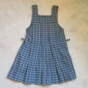 Flynn O'Hara Girls Navy Plaid Uniform Jumper